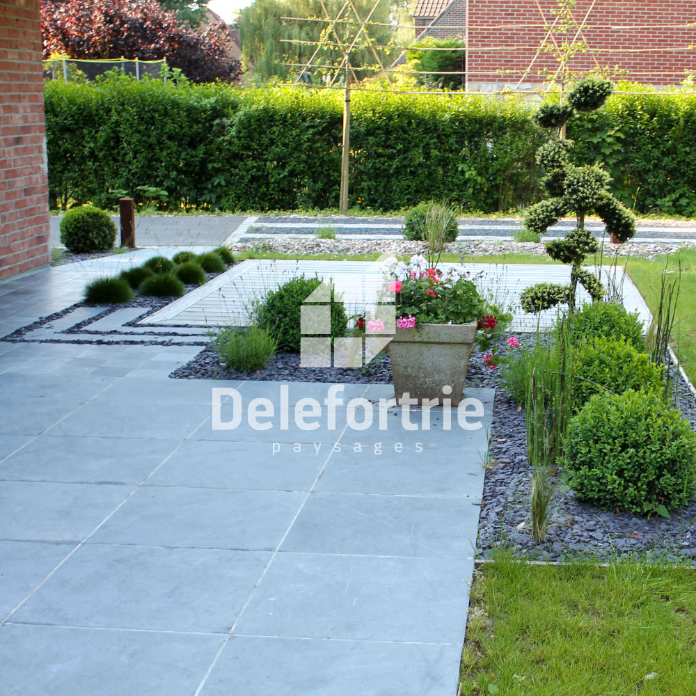 Am nagement terrasse delefortrie paysages for Amenagement jardin avec terrasse