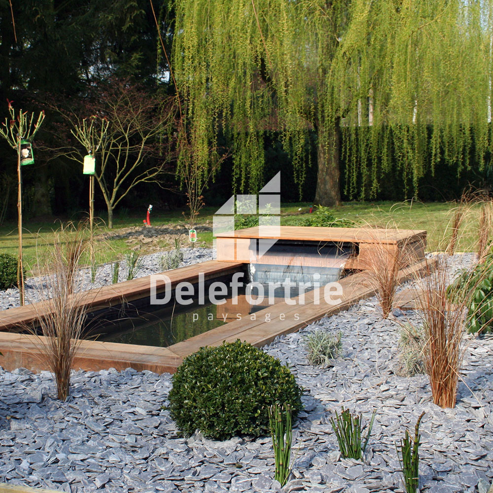 Bassin de jardin delefortrie paysages for Conception jardin fontrobert