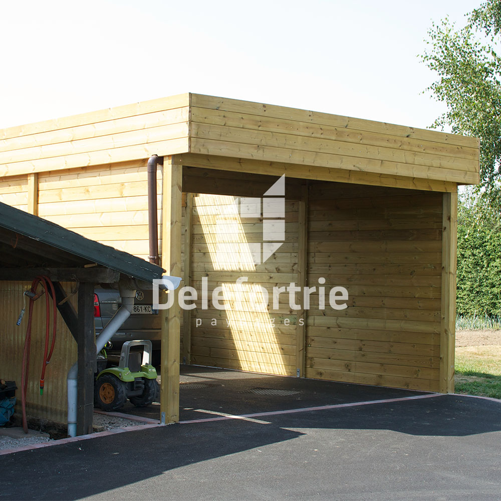 Carport bois Sailly sur la lys