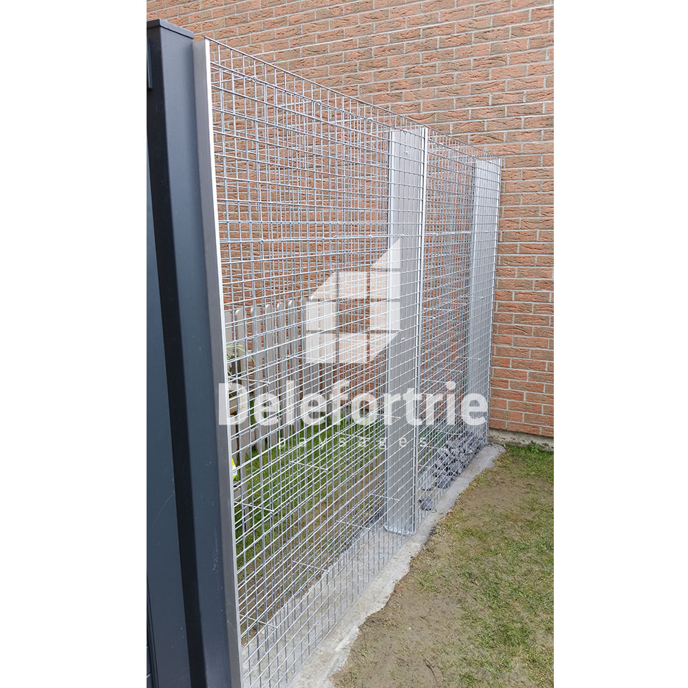 gabion et portillon aluminium erquighem lys delefortrie paysages. Black Bedroom Furniture Sets. Home Design Ideas